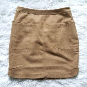 Vineyard Vines Camel Wool blend skirt 0